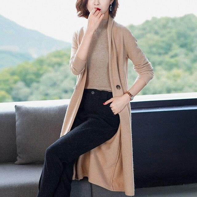 Mega Sale 08a8 Fashion Knit Sweater Cardigan Female 2020 New Long Sleeve Solid Color Loose Women S Spring Autumn Elegant Windbreaker Coat A781 Cicig Co