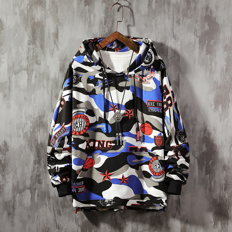 Graffiti Hoodie Men Sweatshirt Mens Hip Hop Pullover Streetwear Casual Fashion Clothes Hipster Autumn 2019 New