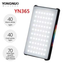 YONGNUO YN365 RGB HA CONDOTTO Photography Studio di Illuminazione 2500 k 8500 k 3300mAh Piena di Colore Batteria Ricaricabile Lampada Video tasca Luce