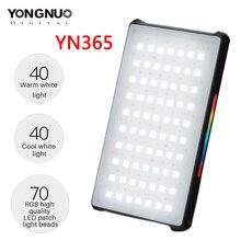 YONGNUO YN365 RGB LED ถ่ายภาพสตูดิโอถ่ายภาพแสง 2500 K 8500 K 3300mAh สีชาร์จหลอดไฟวิดีโอพ็อกเก็ต