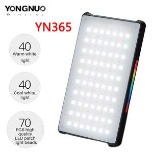 Image 1 - YONGNUO YN365 RGB LED 사진 스튜디오 조명 2500 k 8500 k 3300mAh 풀 컬러 충전식 배터리 램프 비디오 포켓 라이트