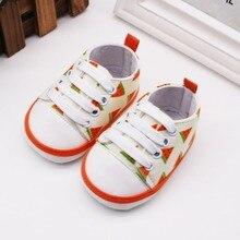0-18M Baby Boys cute canvas crib shoes Breathable Fruit Prin