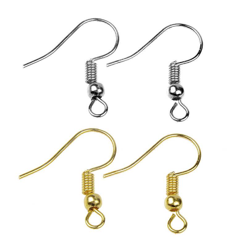 50Pcs Never Allergy Earring Hooks Stainless Steel Ear Wire Hook Findings Jewelry