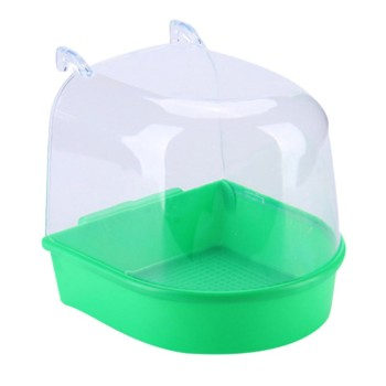 Bird Water Bath Box Bathtub Parrot For Parakeet Plastic Lovebird Bird Pet Cage Hanging Bowl Parakeet Birdbath