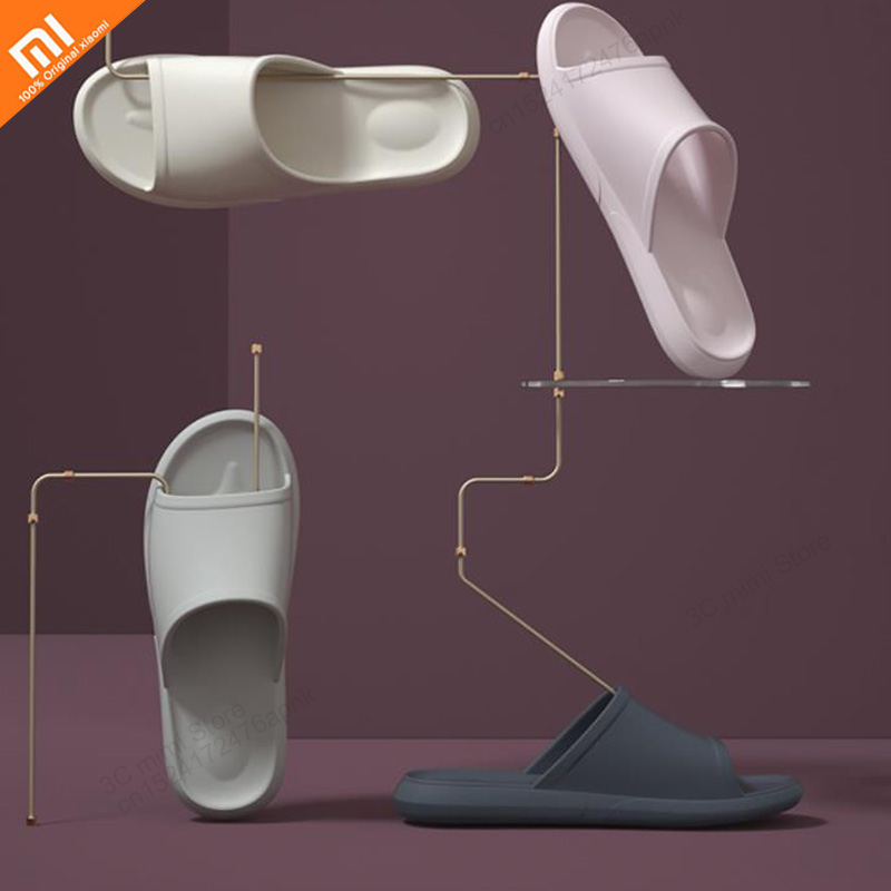 2019 new xiaomi bathroom slippers soft bottom non-slip dusty lightweight couple slippers 7 color men and women sandals smart(China)