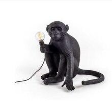 Resin Monkey Pendant Light Resin Loft Hemp Rope Pendant Lamp for Living Room Monkey Lights In animal Pendant Lights Hanging lamp nordic led monkey lamp pendant lamp indoor lighting hemp rope loft pendant lights modern resin kitchen hanging lamp decor lights