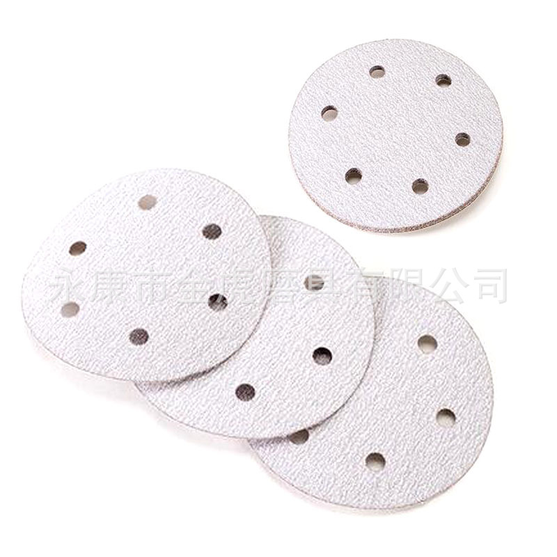 6-Inch 150MM With 6-Hole Red Sand White Sand Flocking Sandpaper Pieces Round Plates SNAD Paper Disk Napper Bei Rong SNAD Paper D