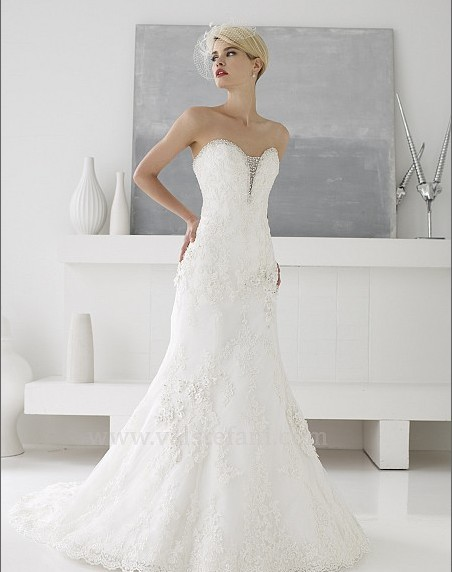 Vestido De Noiva Fashion 2018 Elegant Delicate Beaded Sweetheart Lace Mermaid Crystal Bridal Gown Mother Of The Bride Dresses