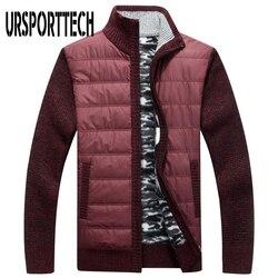 Cardigan pull hommes polaire pull manteau mâle automne hiver épais tricoté chandails Slim Fit pull avec fermeture à glissière veste d'extérieur