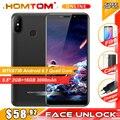 Original HOMTOM C2 5,5 18:9 HD + 4G Smartphone Android 8.1 Quad Core 2GB RAM 16GB ROM gesicht ID 3000mAh Handy