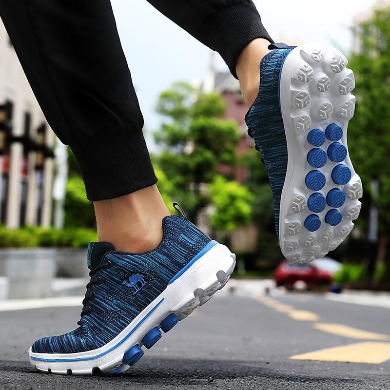 Golf Shoes Men's Sneakers Sneakers Anti-Skid Shoes Breathable Wearable Comfortable Ultralight Training Golf Sneakers Camel Shoes