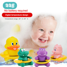 AAG Baby Digital Water Thermometer Cute Cartoon Toys Infant Children Bath Temperature Tester Toddler Shower Water Thermometer цены онлайн