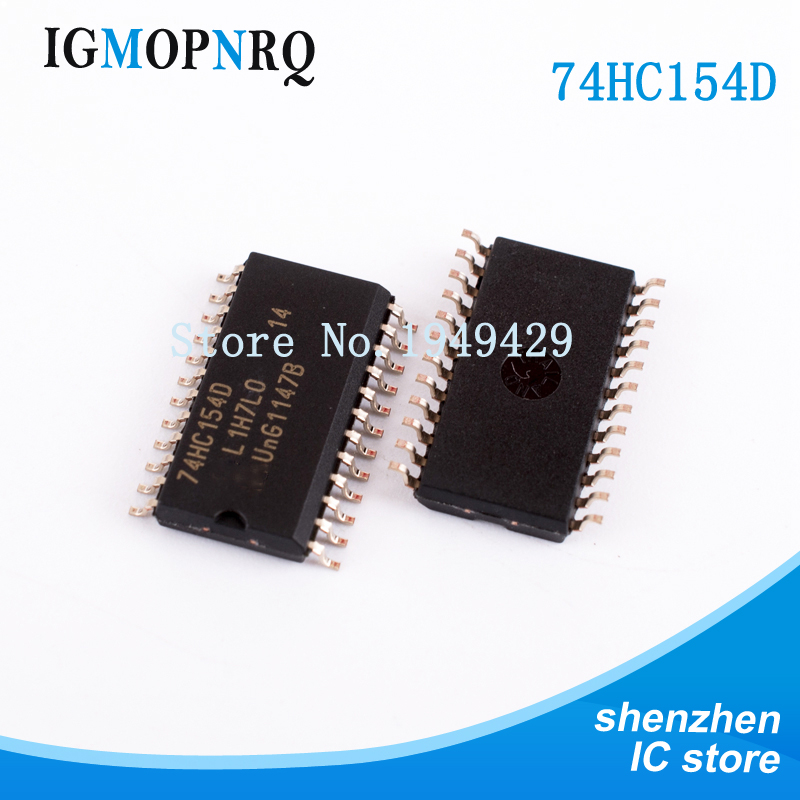 10PCS 74HC154D SOP24 <font><b>74HC154</b></font> Encoder, decoder, multiplexer and demultiplexer 4-16 DECODER/DEMUX New original image