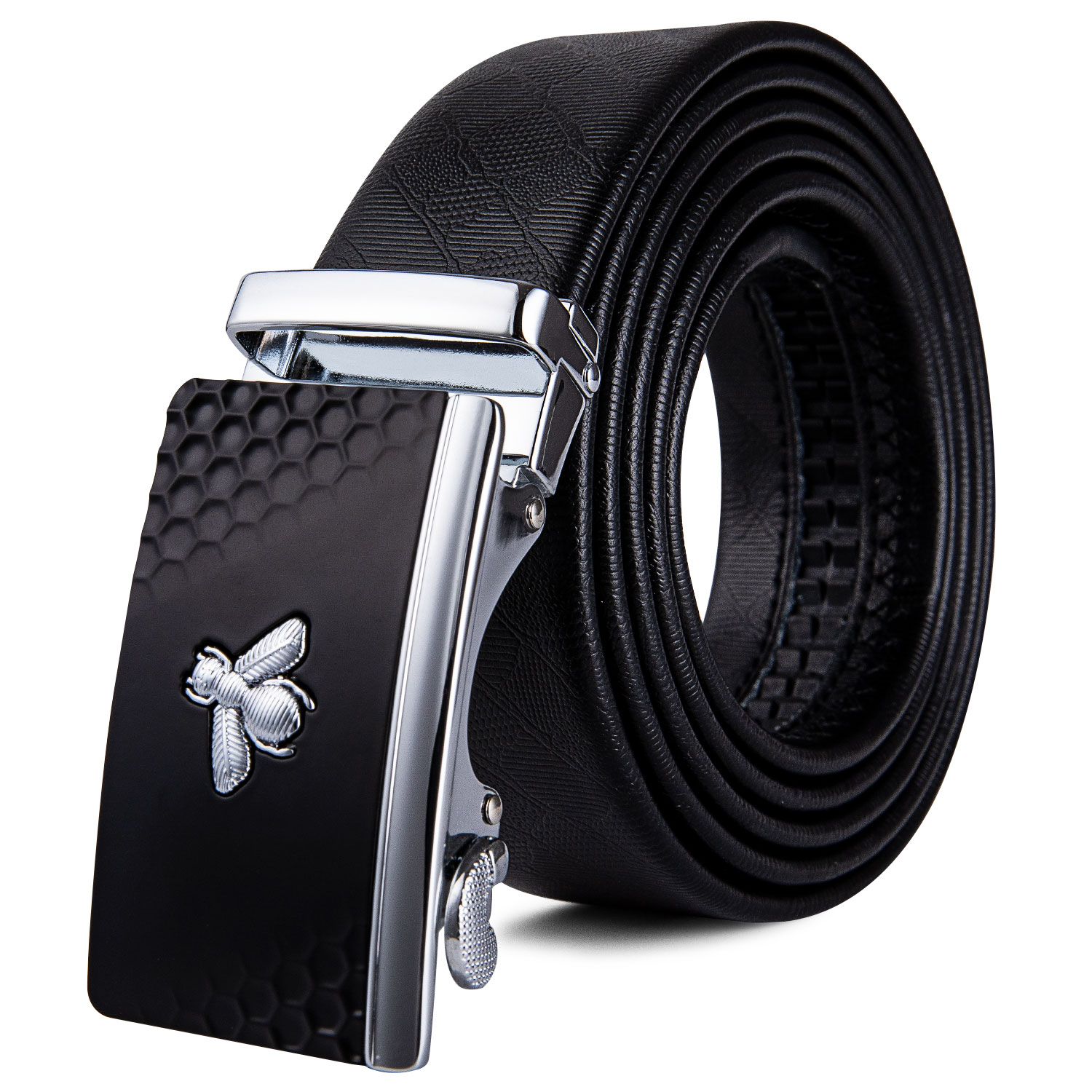 Genuine Leather Belt For Men Automatic Buckles Belt White Cowskin Casual straps