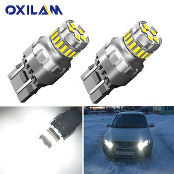 2 sztuk T20 LED W21W W21 5W Led żarówka WY21W 7440 7443 samochodowe światła sygnałowe hamulca rewers światła dzienne lampa samochodowa dla Lada 12V tanie i dobre opinie OXILAM CN (pochodzenie) Świateł cofania 1200Lm T20 (7440) 12 v WHITE Uniwersalny LED Light Bulbs for Car T20 7440 W21W 7443 W21 5W
