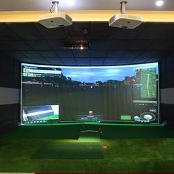 300 см x 200 см экран дисплея для симулятора гольфа Крытый тренировочный ударный проекционный экран белая ткань для упражнений для гольфа цель ...
