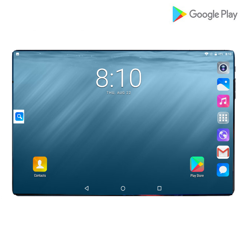 2019 New 10 Inch 4G LTE Tablet PC 6000mAh Battery Octa Core 6GB RAM 64GB ROM 2.5D Tempered Glass 10.1 Tablets Android 9.0