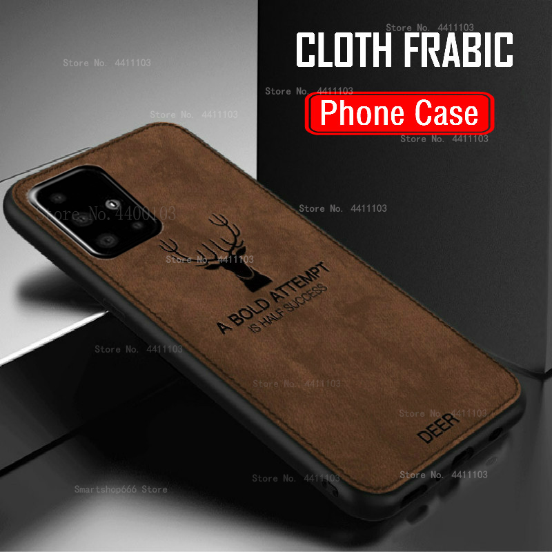 Cloth Frabic Phone Case For Samsung Galaxy A51 A71 A50 A70 A30 A20 S10E S10 S8 S9 A6 A8 Plus J4 J6 A7 2018 Note 9 8 Cover Coque