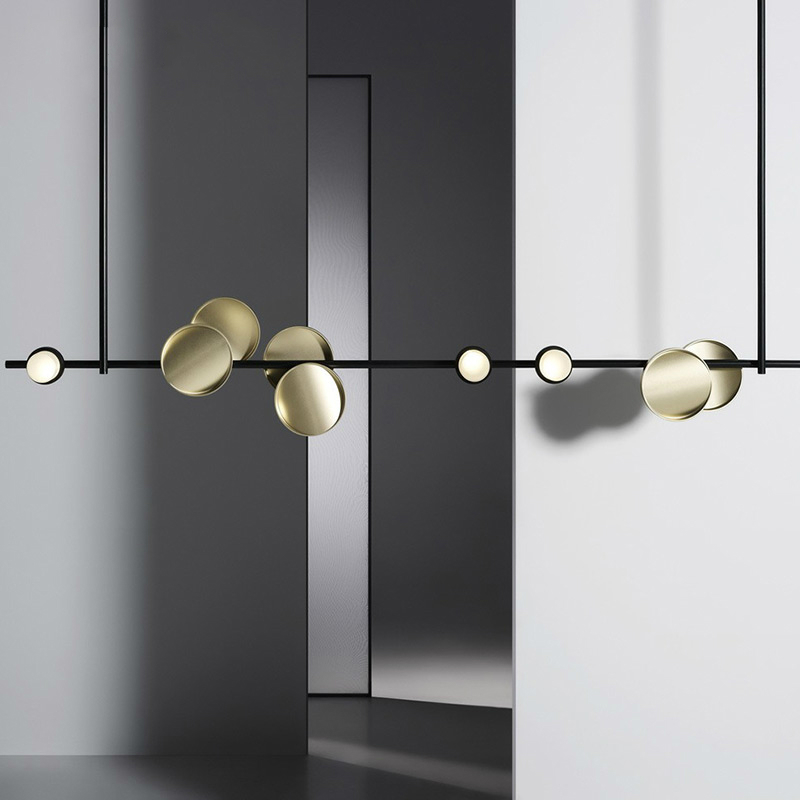 Post modern LED pendant lights luxury study living room hanging lamp Nordic simple restaurant bedroom home deco fixtures in Pendant Lights from Lights Lighting
