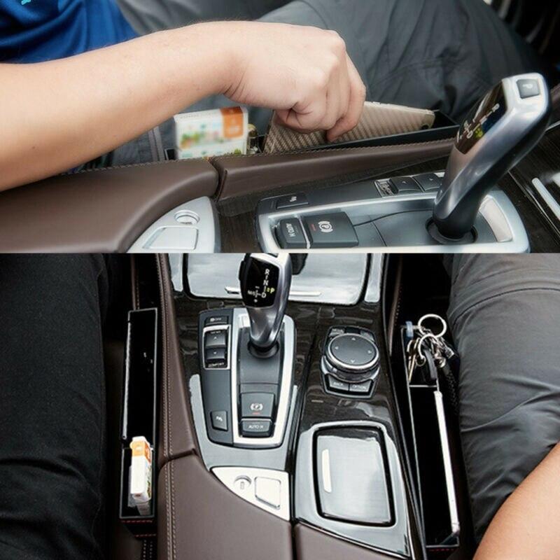 1pcs Car Auto Storage Box Case Seat Console Gap Filler Pocket Organizer Parts