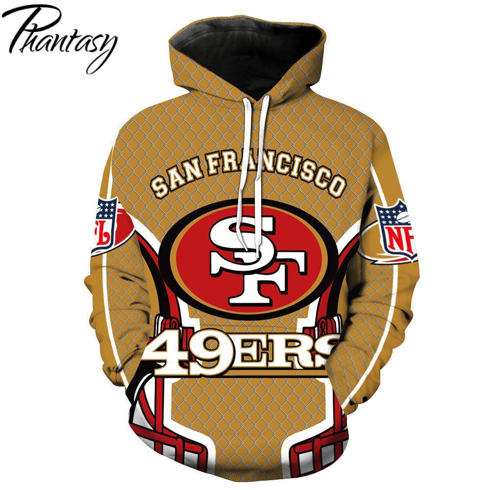 Phantasy 2020 San Francisco 49ers Hoodies Men American Football Sweatshirt 3D Print Rugby Football Hoodies/Sweatshirt
