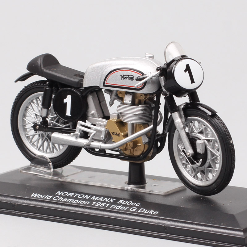 1:22 Scale Tiny Italeri Norton Manx 500 World Champion 1951 No#1 G.duke GP Motorcycle Diecast Vehicle Model Racing Moto Bike Toy