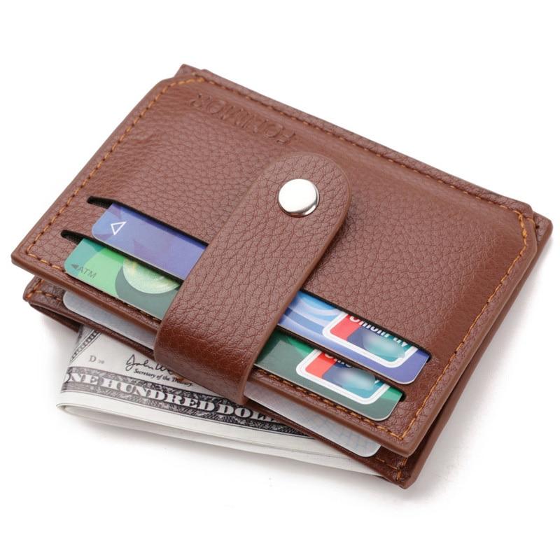 Мужской кошелек, бизнес-держатель для карт, Модный женский кредитный держатель для карт, ретро кожаный чехол для карт, Маленькая кожаная