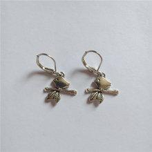 Серьги с птицей изящная бусина Шарм серьги минималистичные ювелирные