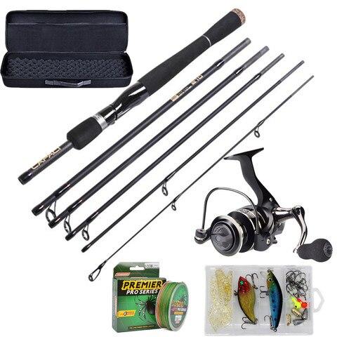 vara de pesca e carretel combos kits completos conjuntos de polo de engrenagem de pesca
