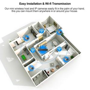 Image 5 - Techage 8CH 1080P Drahtlose Kamera NVR System 4 Array LED 2MP Wifi 2 Weg Audio Sound Video Im Freien CCTV Sicherheit Überwachung Kit