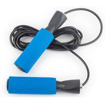 Скакалка Регулируемая фитнес Экипировка для мужчин и женщин мужчин Crossfit черный синий ПВХ Тренировочный бокс спорт упражнения Corda De Pular 3 м