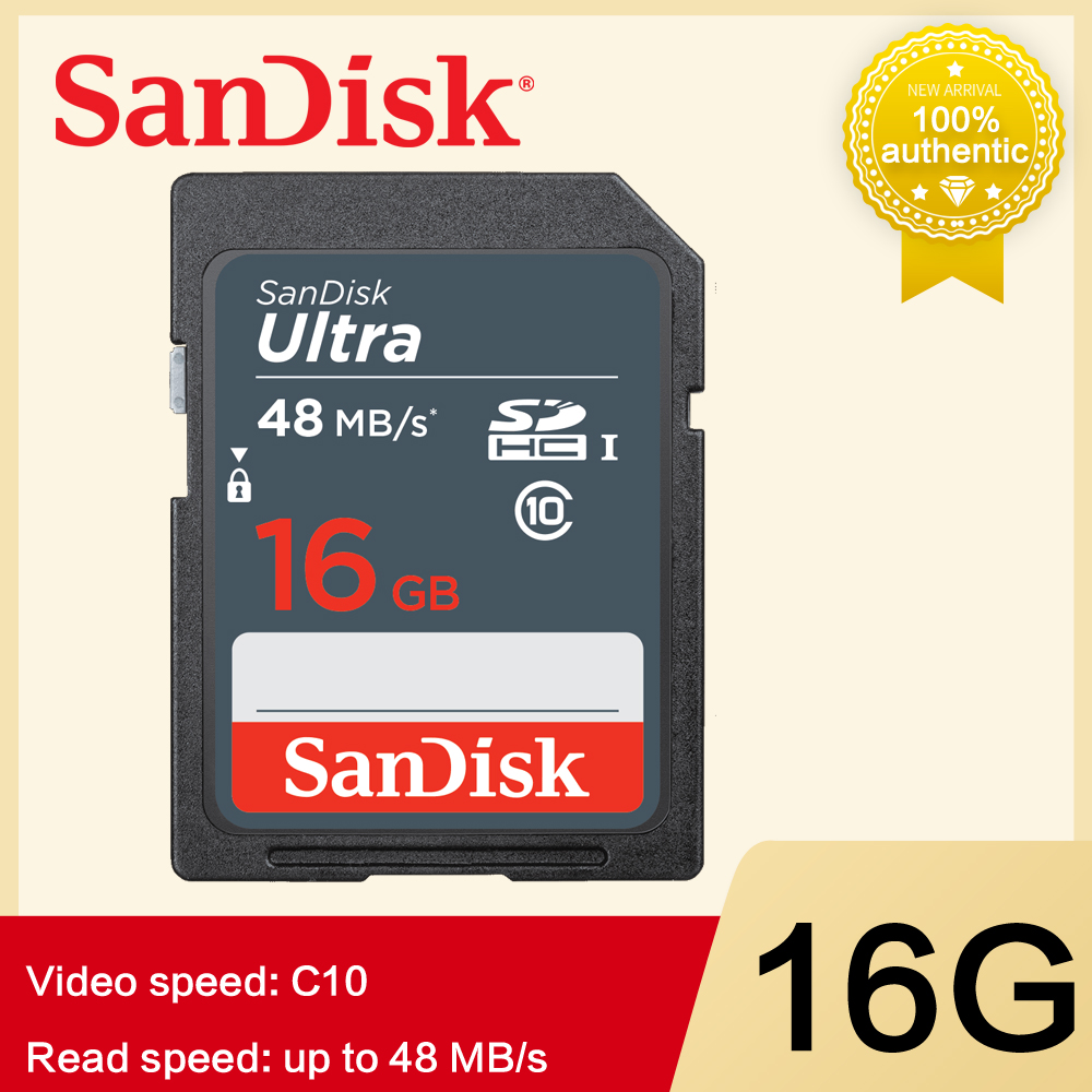 SanDisk ULTRA SD Card SDXC SDHC 16GB UHS-I Class 10 Card Sread Speeds Up To 48 MB/s 64GB 32GB SD Card For SLR Camera Full HD