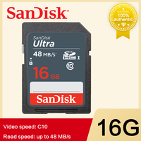 SanDisk ULTRA sd-карта SDXC SDHC 16 Гб UHS-I класс 10 карта sread скорость до 48 МБ/с./с 64 ГБ 32 ГБ sd-карта для SLR камеры Full HD