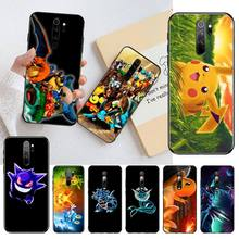 HPCHCJHM Cartoon Anime Pokemons Newly Arrived Black Cell Phone Case for Redmi Note 8 8A 7 6 6A 5 5A 4 4X 4A Go Pro Plus Prime