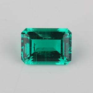 Image 1 - Высококачественная лабораторная восьмиугольная огранка изумруда 7x5mm 15x11mm, гидротермальный Изумрудный камень для ювелирных изделий
