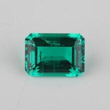 High Quality lab Emerald Octagon Emerald cut 7x5mm 15x11mm Hydrothermal Emerald stone For Jewelry