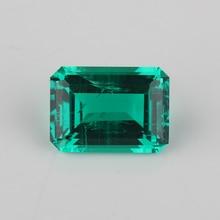 Hoge Kwaliteit Lab Emerald Achthoek Emerald Cut 7x5mm 15x11mm Hydrothermale Emerald Stone Voor Sieraden