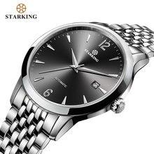 Starking relógio mecânico masculino, relógio mecânico fashion para homens, 28800 beats, relógio de pulso automático em aço inoxidável, relógio masculino 5atm am0194