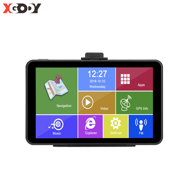 XGODY Android 7 Zoll Auto GPS Navigation 2 in 1 Tablet PC 512M + 16GB WiFi Auto GPS navigator Sat Nav Russland Karte Navitel Optional