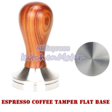 Coffee-Powder with 304-Stainless-Steel Wooden-Handle Professional Hammer Espresso Flat/thread-Base