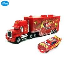 Mini camion Disney Pixar Cars 2 Lightning Mcqueen, nouveau Mini 95 en plastique, jouets figurines Mack Racer, cadeau d'anniversaire pour enfants