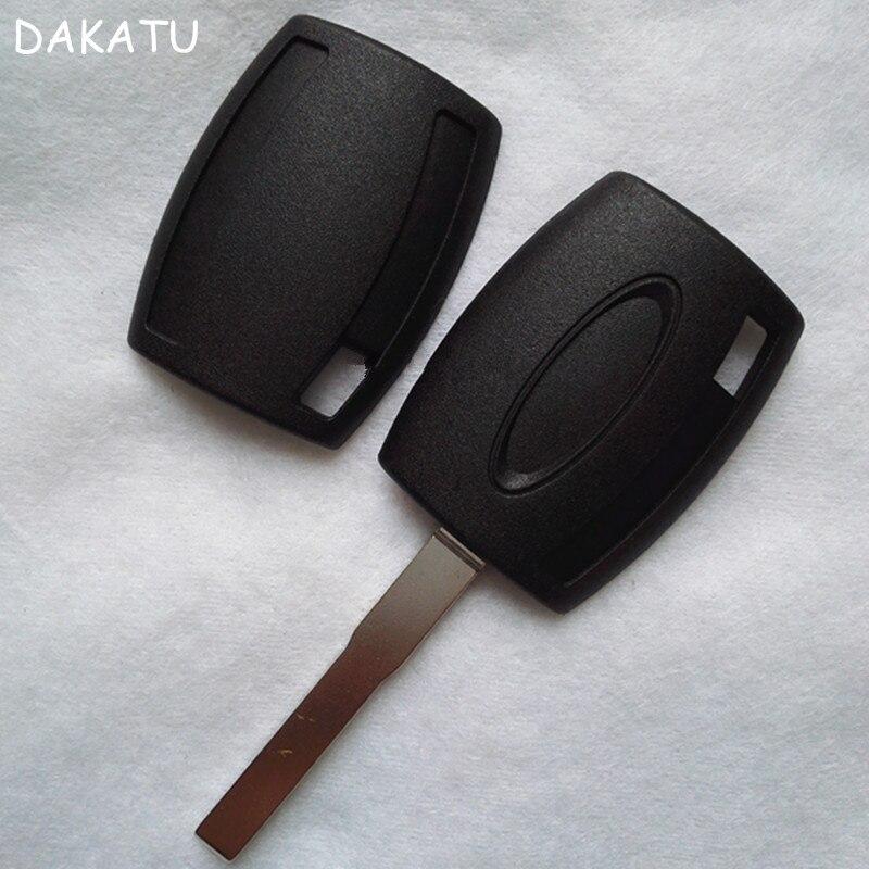 DAKATU โลโก้สำหรับ Ford Fiesta Mondeo Focus C-Max S-Max Galaxy Transponder Remote Key Shell Case fob (สามารถติดตั้งชิป)