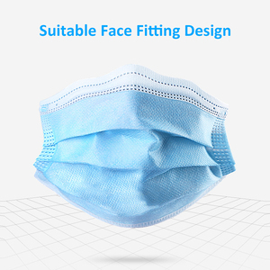 Image 4 - 50 200PCS Mask Disposable Non Woven Mask 3 Layer Ply Filter Ear Loop Mouth Face Mask Blue Black Pink White Breathable Mask