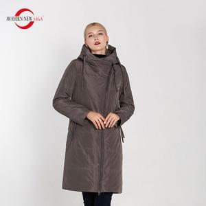 Image 5 - מודרני חדש סאגת 2020 סתיו נשים מעיל חם ארוך מעיל סלעית חורף Parka נשים גבירותיי חורף מעיל מוצק רוכסן אישה מעיל
