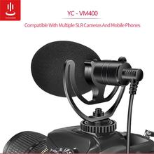YC-VM400 Cardioid Shotgun Microphone 3.5mm Headphone TRS TRRS Output for Smartphone