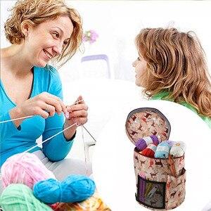 Image 5 - 14 Styles Knitting Bag Yarn Organizer Bag For Wool Crochet Hooks Knitting Needles Sewing Set DIY Yarn Balls Storage Bag