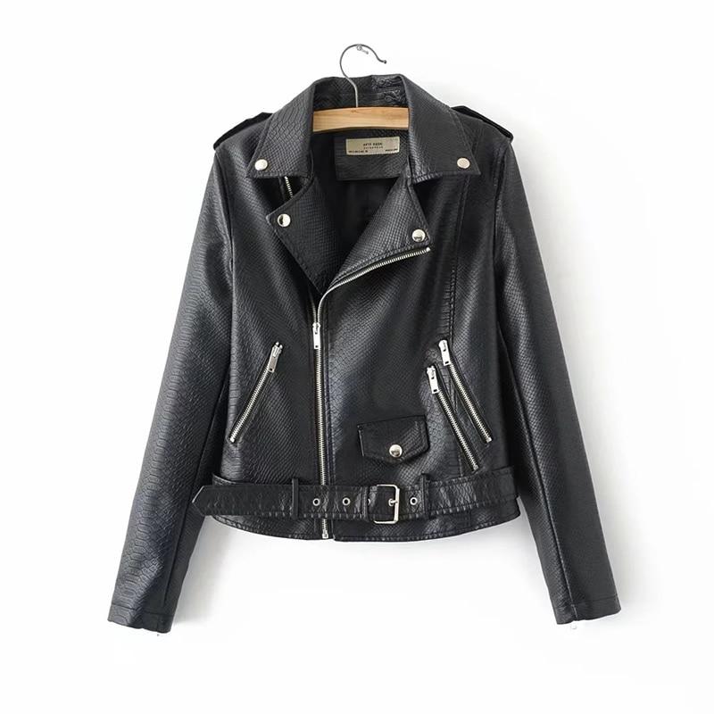 Pu   Leather   Slim Women Jacket Plus Size   Leather   Jacket Sweet Female Outwear Coat Xl 2019 Fashion Cool Girl Lapel Collar Zipper