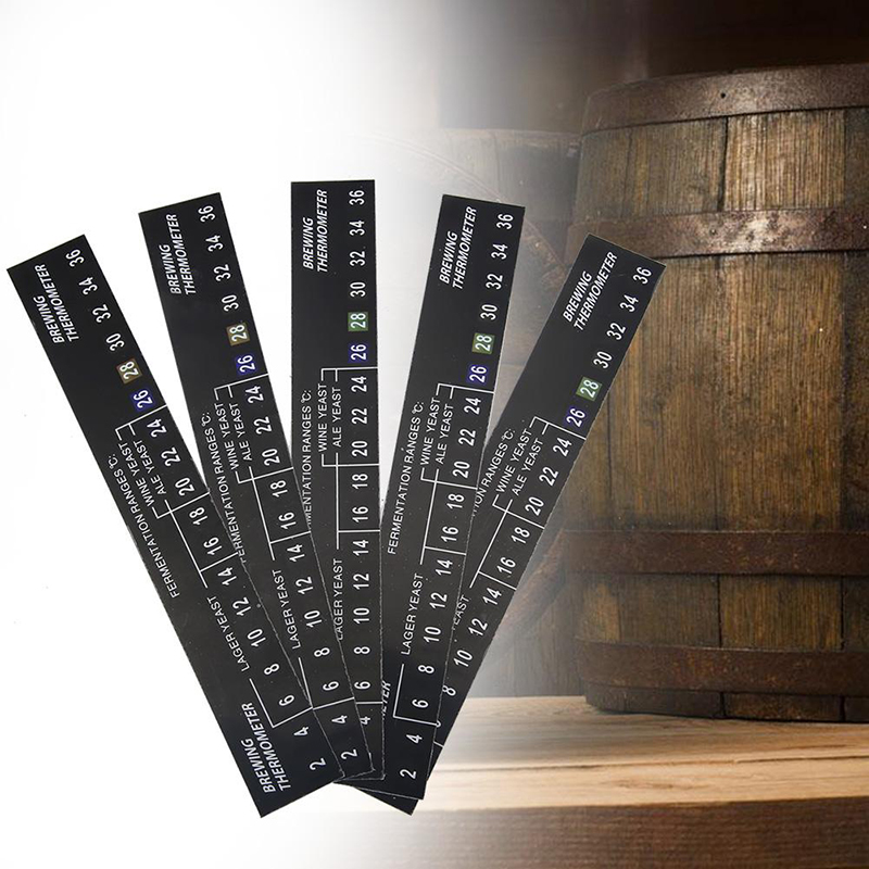 5pcs Digital Temperature Sticker Home Brew Beer Wine LCD Thermometer 2-36C  LCD Temperature Display