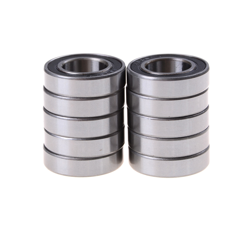 10pcs/Lot <font><b>6902</b></font>-2RS <font><b>6902</b></font> <font><b>RS</b></font> 15x28x7mm The Rubber Sealing Cover Thin Wall Deep Groove Ball Bearing image
