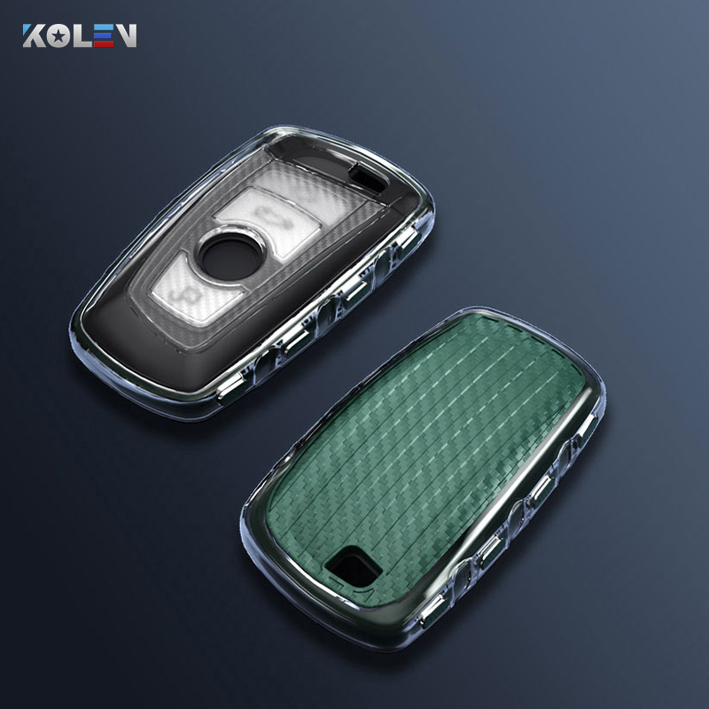 Carbon Fiber Transparente TPU Car Remote Key Case Cover For BMW F10 F11 F20 F25 F26 F30 1 3 5 7Series 118i 320i X3 M3 X4 E34 E36